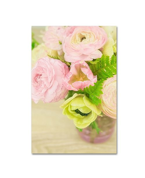 "Trademark Global Cora Niele 'Pink And Lime Spring Bouquet Iii' Canvas Art - 32"" x 22"" x 2"""
