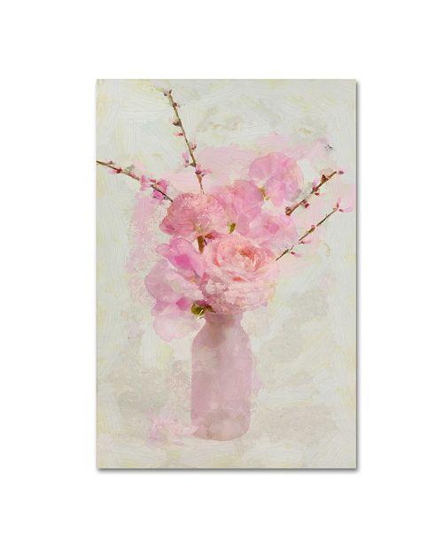 "Trademark Global Cora Niele 'Small Pink Bouquet' Canvas Art - 32"" x 22"" x 2"""