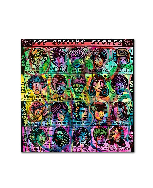 "Trademark Global Dean Russo 'The Rolling Stones' Canvas Art - 14"" x 14"" x 2"""