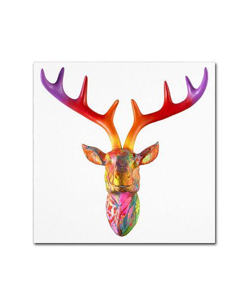 """Trademark Global Dean Russo 'Deer Bust' Canvas Art - 35"""" x 35"""" x 2"""""""
