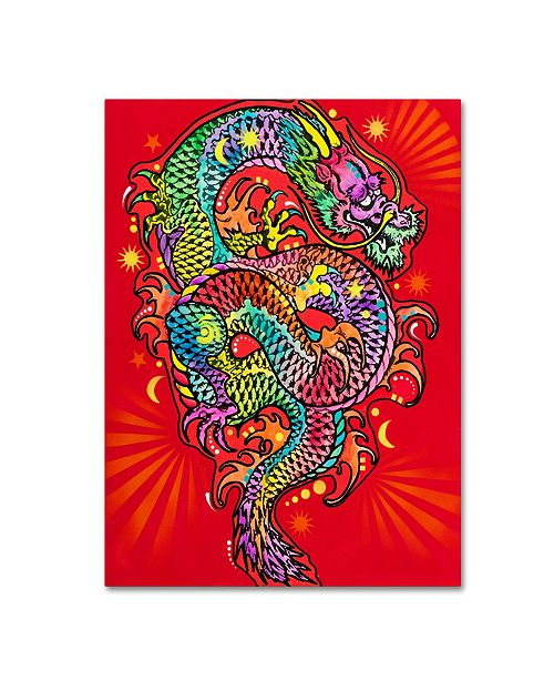 "Trademark Global Dean Russo 'Red Dragon' Canvas Art - 47"" x 35"" x 2"""
