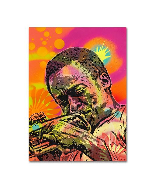 "Trademark Global Dean Russo 'Miles Davis' Canvas Art - 47"" x 35"" x 2"""