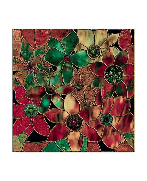 """Trademark Global Color Bakery 'Stained Glass Christmas' Canvas Art - 14"""" x 14"""" x 2"""""""