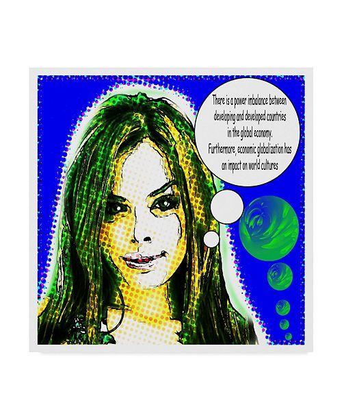 "Trademark Global Dana Brett Munach 'The Economist' Canvas Art - 14"" x 14"" x 2"""