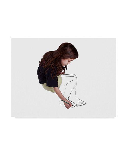 "Trademark Global Dana Brett Munach 'Self Sketch' Canvas Art - 32"" x 24"" x 2"""