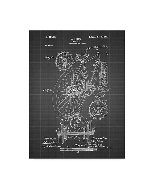 "Trademark Innovations Cole Borders 'Bike' Canvas Art - 32"" x 24"" x 2"""