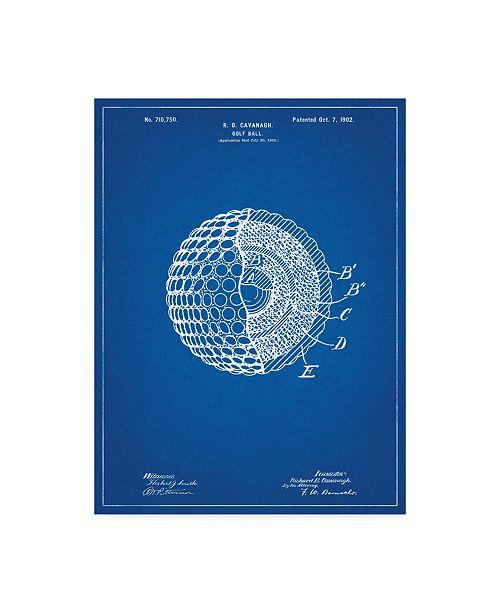 "Trademark Innovations Cole Borders 'Golf Ball' Canvas Art - 24"" x 18"" x 2"""