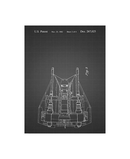 "Trademark Global Cole Borders 'Space Ship 7' Canvas Art - 47"" x 35"" x 2"""
