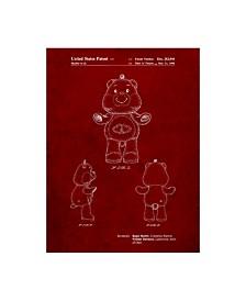 """Cole Borders 'Teddy Bear' Canvas Art - 19"""" x 14"""" x 2"""""""