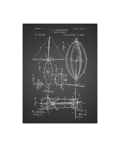 "Trademark Global Cole Borders 'Mechanics 27' Canvas Art - 47"" x 35"" x 2"""