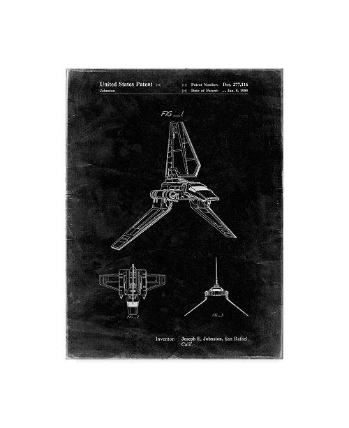 "Trademark Global Cole Borders 'Space Ship 9' Canvas Art - 47"" x 35"" x 2"""