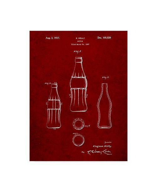 "Trademark Innovations Cole Borders 'D Patent Coke Bottle' Canvas Art - 47"" x 35"" x 2"""
