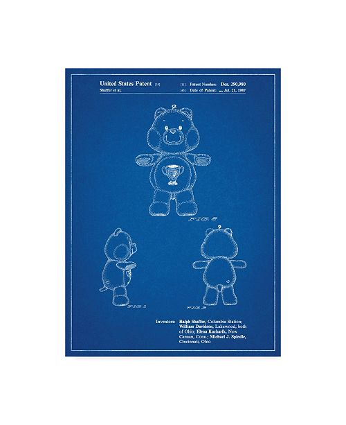 "Trademark Innovations Cole Borders 'Champ Care Bear' Canvas Art - 47"" x 35"" x 2"""