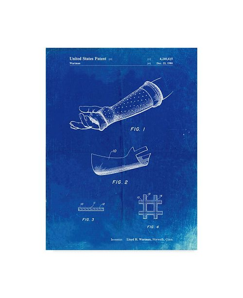 "Trademark Global Cole Borders 'Orthopedic Hard Cast' Canvas Art - 24"" x 18"" x 2"""