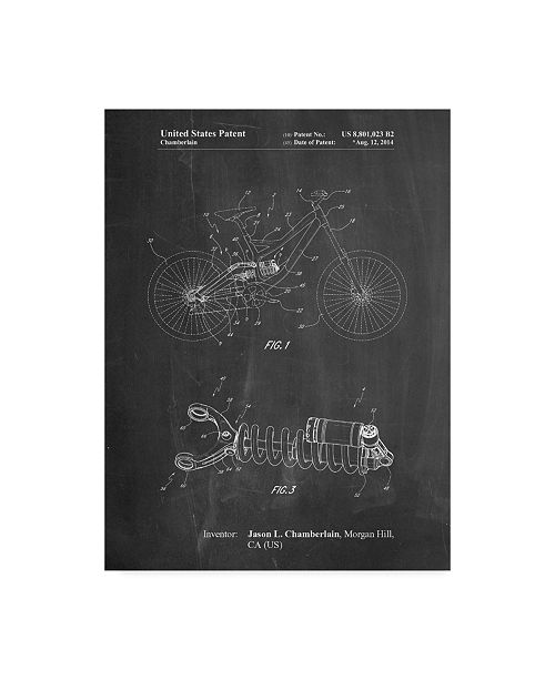 "Trademark Innovations Cole Borders 'Bicycle Shock Art' Canvas Art - 32"" x 24"" x 2"""