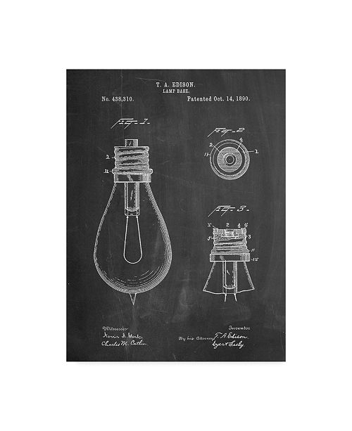 "Trademark Innovations Cole Borders 'Edison Lamp Base' Canvas Art - 47"" x 35"" x 2"""