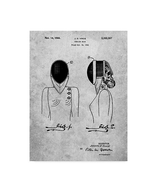 """Trademark Innovations Cole Borders 'Fencing Mask' Canvas Art - 24"""" x 18"""" x 2"""""""