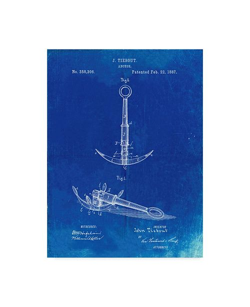 "Trademark Innovations Cole Borders 'Folding Grapnel Anchor' Canvas Art - 19"" x 14"" x 2"""