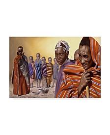 """D. Rusty Rust 'Africa Ten' Canvas Art - 24"""" x 16"""" x 2"""""""