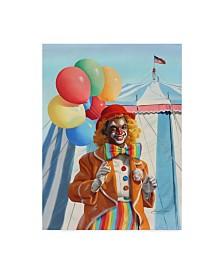 """D. Rusty Rust 'Clown Balloons' Canvas Art - 24"""" x 18"""" x 2"""""""