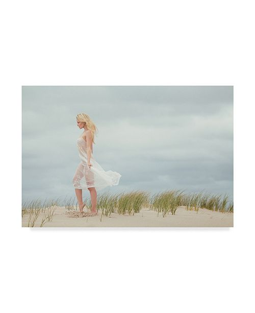 "Trademark Global Jae 'Liz On The Beach' Canvas Art - 24"" x 2"" x 16"""