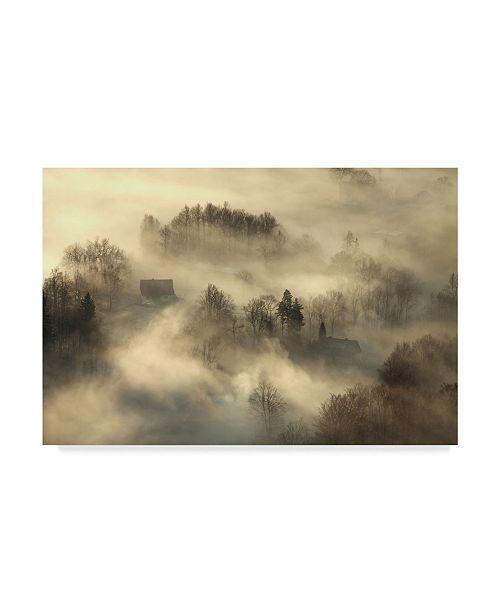 """Trademark Global Izabela Laszewska 'Awakening Fog' Canvas Art - 32"""" x 2"""" x 22"""""""