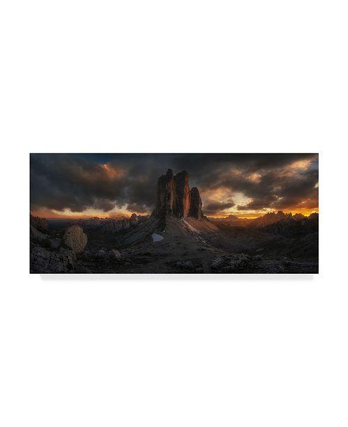 "Trademark Global David Martin Castan 'The Cliffs In The Dark' Canvas Art - 32"" x 2"" x 14"""
