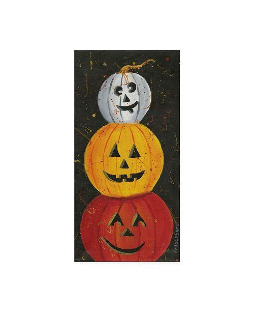 "Trademark Global Colleen Sgroi 'Pumpkins In Color' Canvas Art - 10"" x 19"" x 2"""