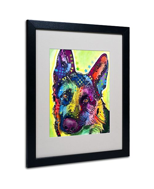 "Trademark Global Dean Russo 'German Shepherd' Matted Framed Art - 20"" x 16"" x 0.5"""