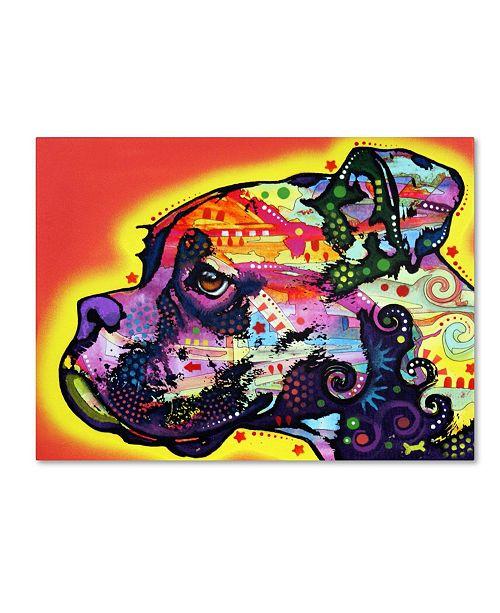 "Trademark Global Dean Russo 'Profile Boxer' Canvas Art - 35"" x 47"" x 2"""