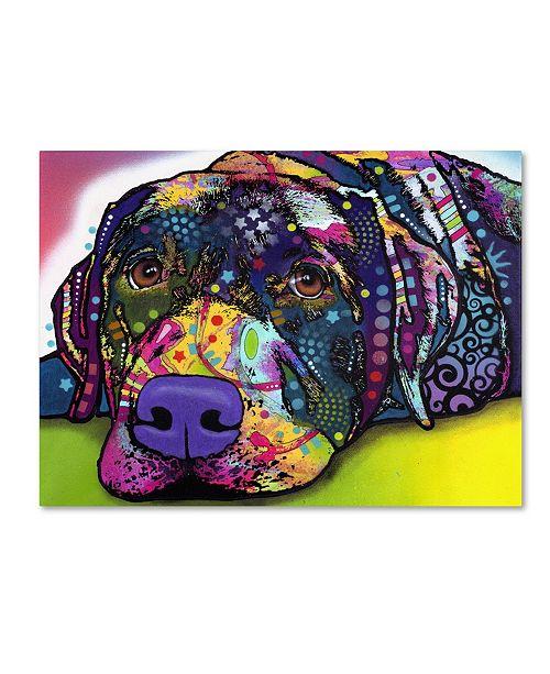 "Trademark Global Dean Russo 'Savvy Labrador' Canvas Art - 35"" x 47"" x 2"""