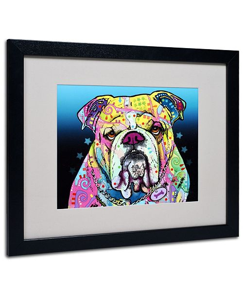 """Trademark Global Dean Russo 'The Bulldog' Matted Framed Art - 20"""" x 16"""" x 0.5"""""""