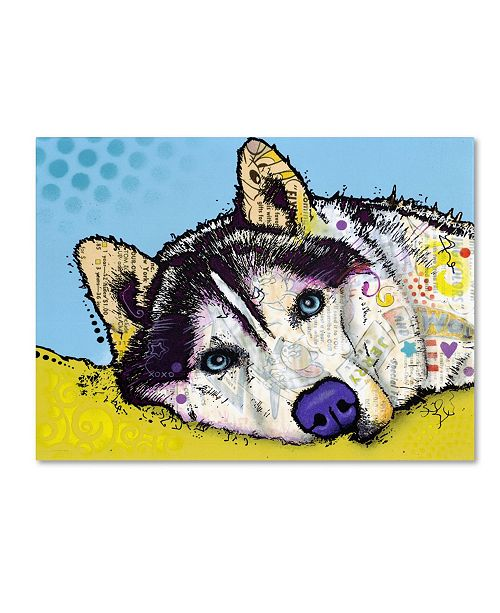 "Trademark Global Dean Russo 'Siberian Husky II' Canvas Art - 19"" x 14"" x 2"""