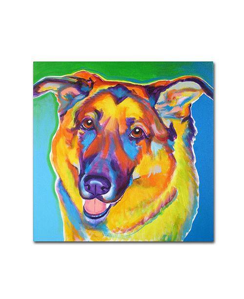 "Trademark Global DawgArt 'Thomas' Canvas Art - 14"" x 14"" x 2"""