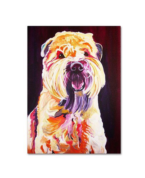 "Trademark Global DawgArt 'Bailey Boy' Canvas Art - 35"" x 47"" x 2"""