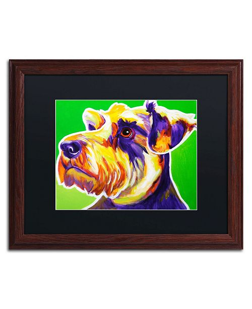 "Trademark Global DawgArt 'Elroy' Matted Framed Art - 16"" x 20"" x 0.5"""
