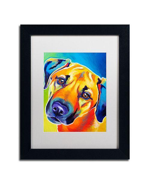 "Trademark Global DawgArt 'Lulu' Matted Framed Art - 14"" x 11"" x 0.5"""