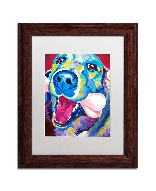 "Trademark Global DawgArt 'My Favorite Bone Reboot' Matted Framed Art - 11"" x 14"" x 0.5"""
