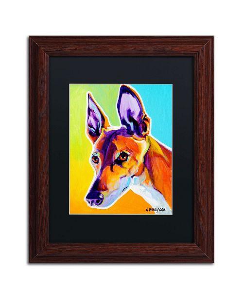 """Trademark Global DawgArt 'Pharoah Hound Linus' Matted Framed Art - 11"""" x 14"""" x 0.5"""""""