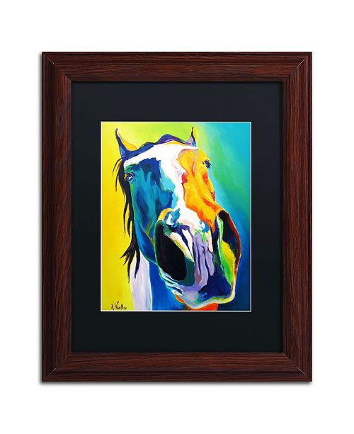 """Trademark Global DawgArt 'Up Close And Personal' Matted Framed Art - 11"""" x 14"""" x 0.5"""""""