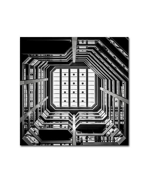 "Trademark Global Dave MacVicar 'Ceiling View' Canvas Art - 14"" x 14"" x 2"""