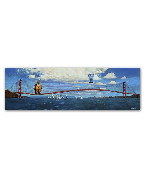 "Trademark Global Eric Joyner 'The Golden Gate' Canvas Art - 47"" x 16"" x 2"""