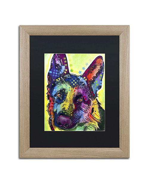 """Trademark Global Dean Russo 'German Shepherd' Matted Framed Art - 20"""" x 16"""" x 0.5"""""""