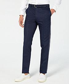 Calvin Klein Men's Skinny-Fit Contrast Piped Suit Pants