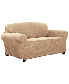 P/Kaufmann Home Floral Loveseat Stretch  Slipcover