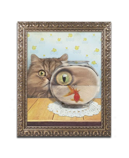 "Trademark Global J Hovenstine Studios 'Cat Series #3' Ornate Framed Art - 20"" x 16"" x 0.5"""
