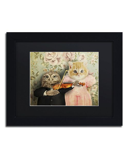 "Trademark Global J Hovenstine Studios 'The Owl And The Pussycat' Matted Framed Art - 11"" x 14"" x 0.5"""