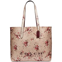 Deals on Coach Floral Highline Tote