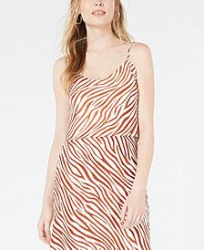 4SI3NNA Zebra-Print Crop Top