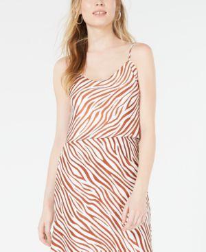 Image of 4SI3NNA Zebra-Print Crop Top